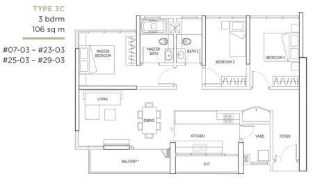 3C - 3 Bedroom