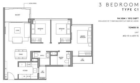 C1 - 3 Bedroom