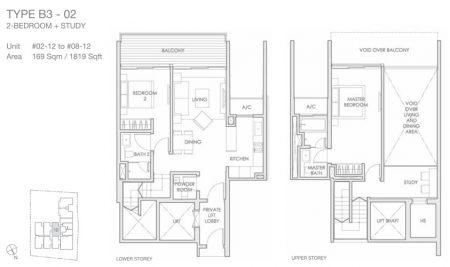 B3-02 - 2 + Study Loft
