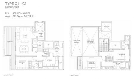 C1-02 - 3 Bedroom Loft