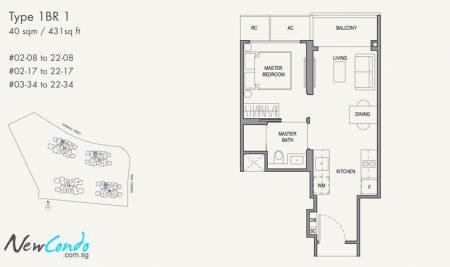 1BR 1: 1 Bedroom