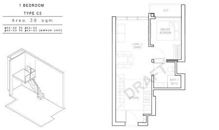 C2 - 1 Bedroom