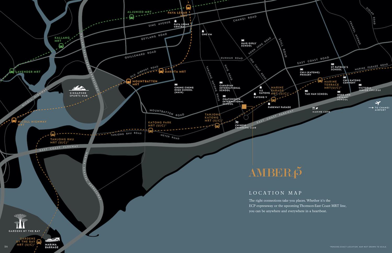 Amber 45 Location Map - Singapore