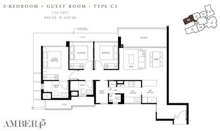 C1 - 3 Bedroom + Guest
