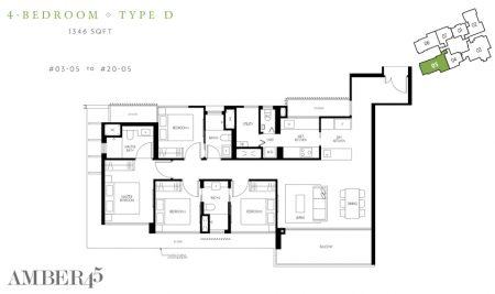 D - 4 Bedroom