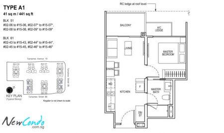 A1: 1 Bedroom