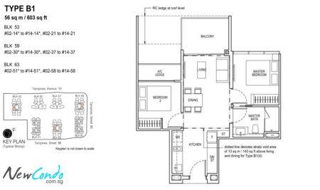 B1: 2 Bedroom
