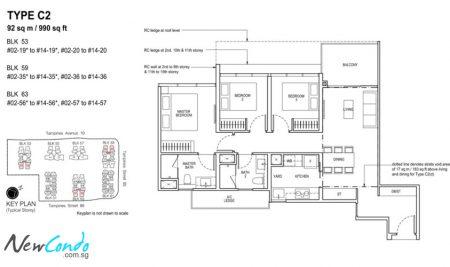 C2: 3 Bedroom