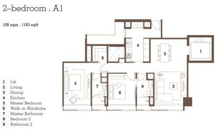 A1 - 2 Bedroom