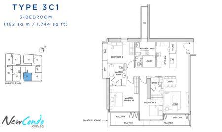 3C1: 3 Bedroom