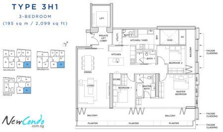 3H1: 3 Bedroom