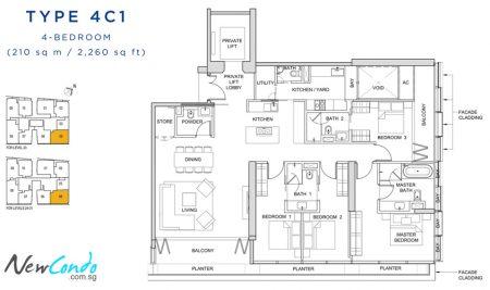 4C1: 4 Bedroom