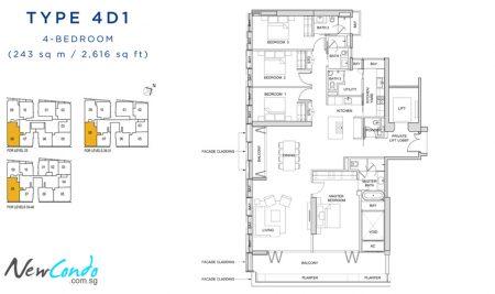 4D1: 4 Bedroom