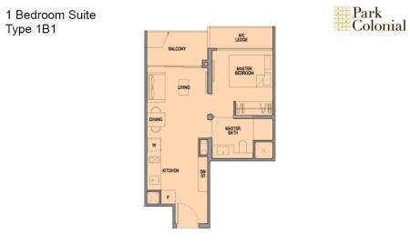 1B1 - 1 Bedroom