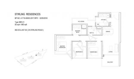 3BR-C1: 3 Bedroom