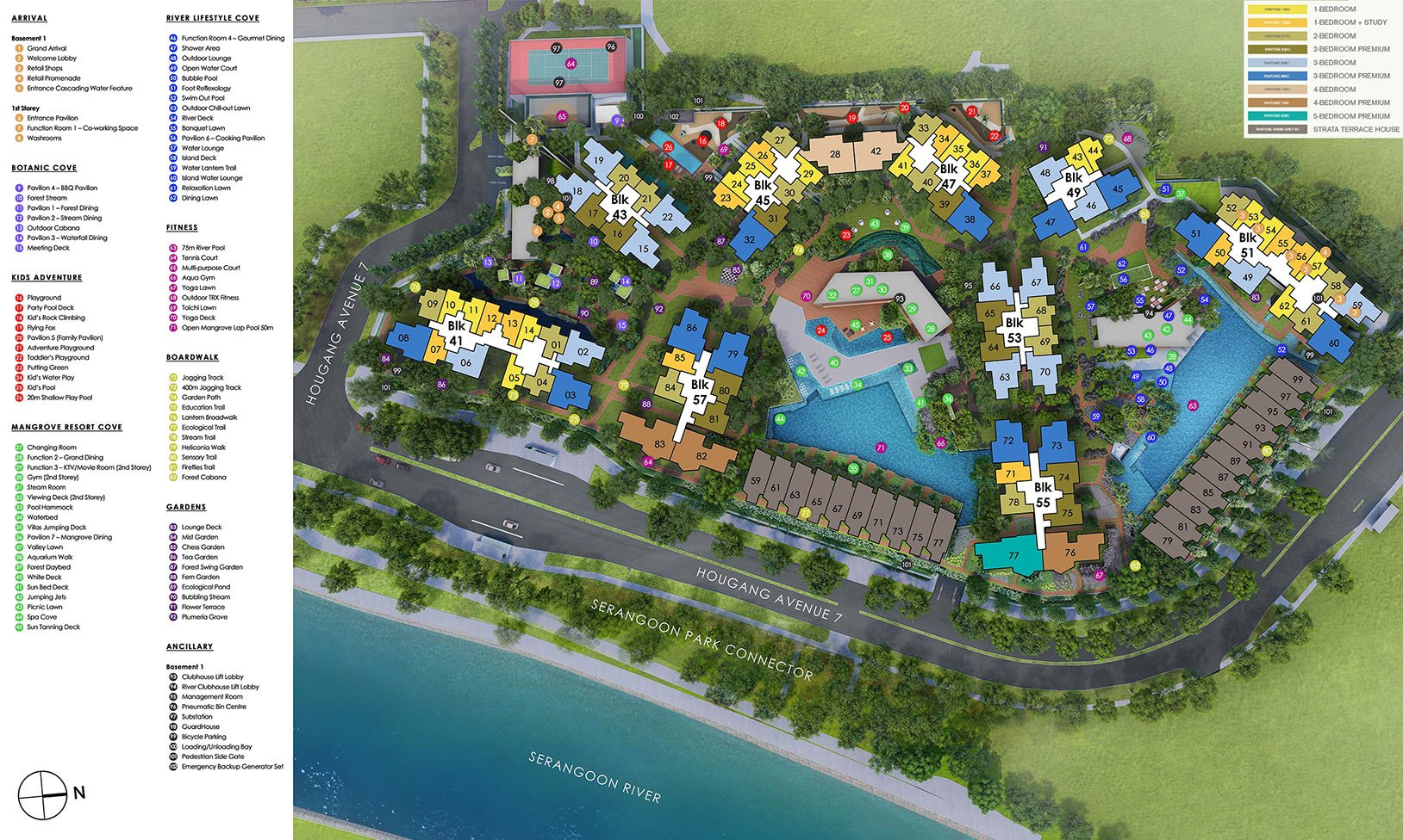 Riverfront Residences Facilities Site Plan