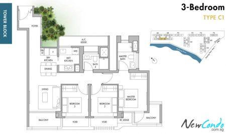 C1: 3 Bedroom