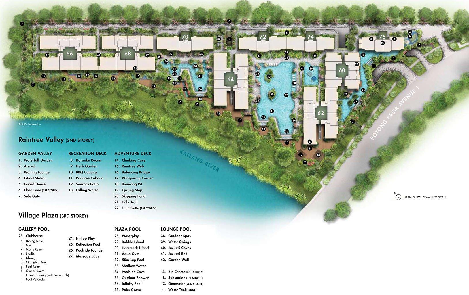 The Tre Ver Facilities Site Plan