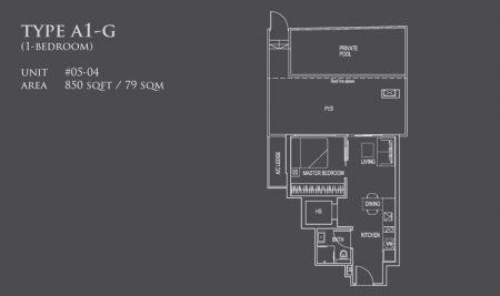 A1-G: 1 Bedroom
