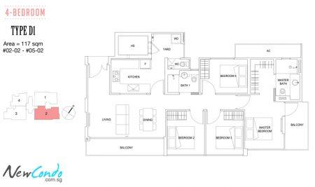 D1: 4 Bedroom