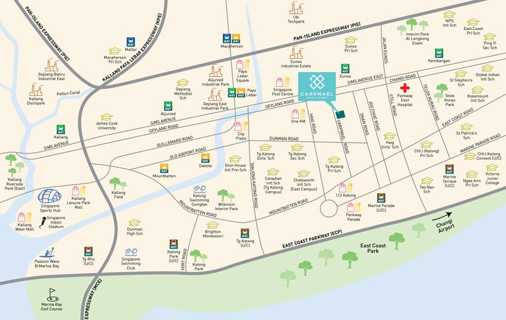 Carpmael Thirty-Eight Location Map - Singapore