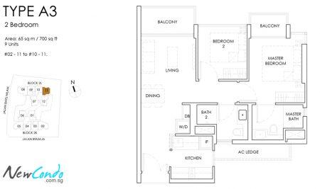 A3: 2 Bedroom