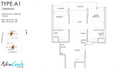 A1: 2 Bedroom