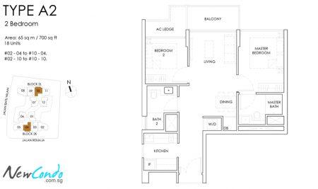 A2: 2 Bedroom