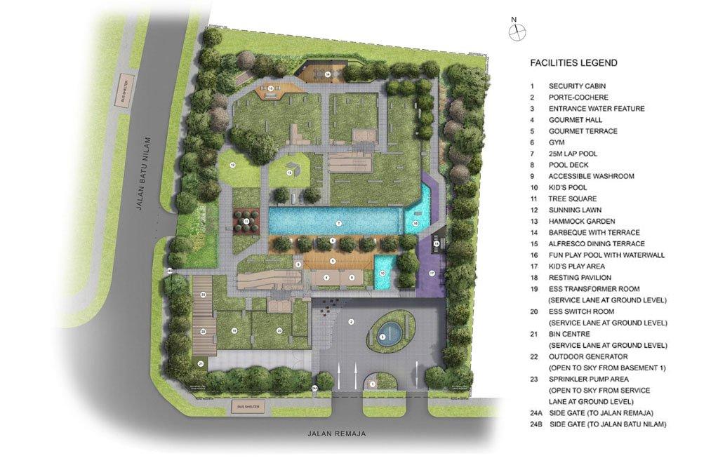 Mont Botanik Residence Site Plan