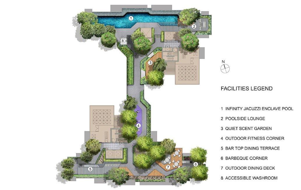 Mont Botanik Residence Sky Terrace Plan