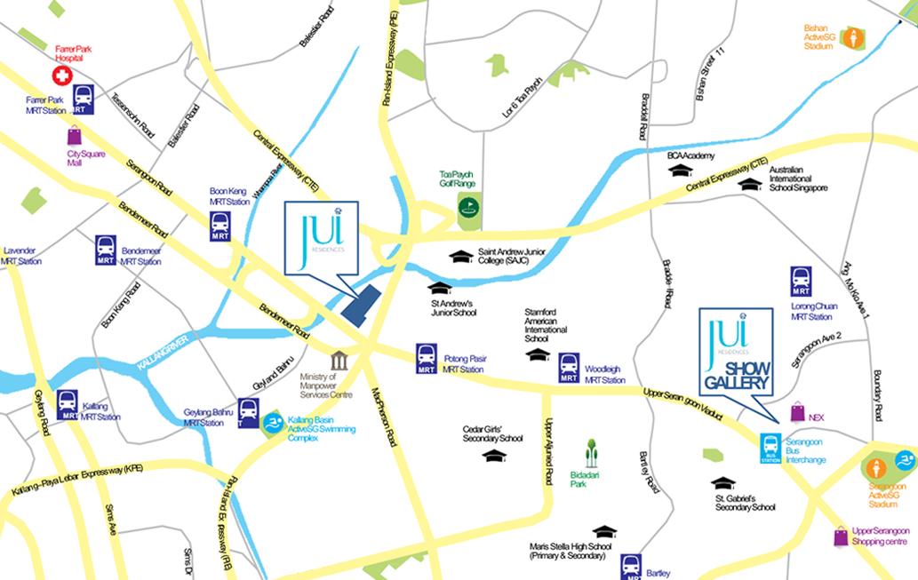 Jui Residences Location Map - Singapore