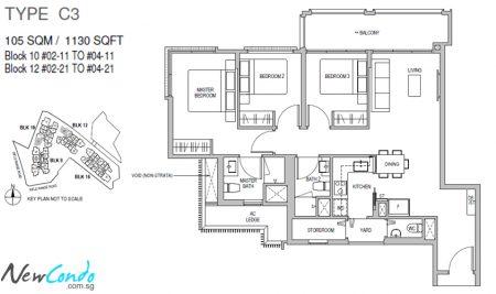 C3 - 3 Bedroom