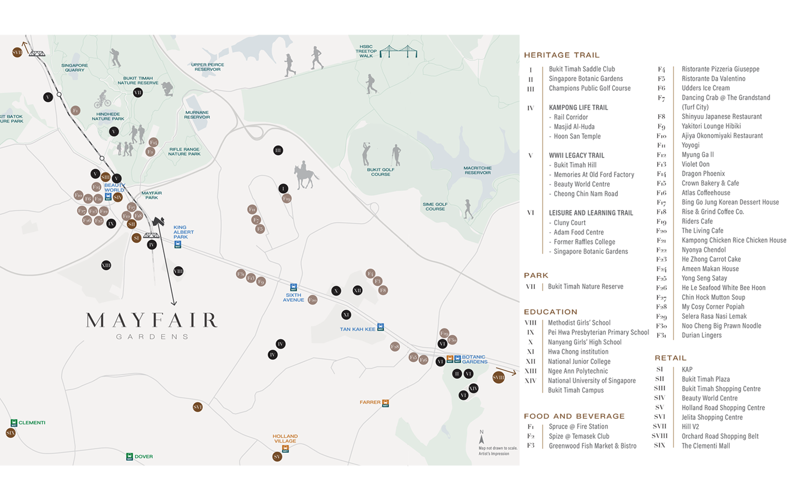 Mayfair Gardens Location Map - Singapore