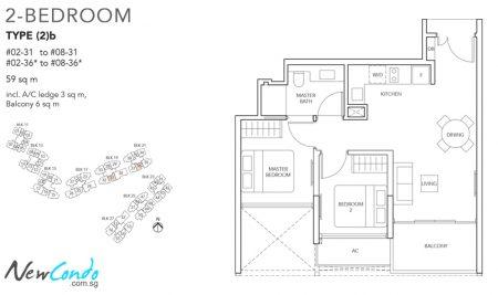 2b - 2 Bedroom