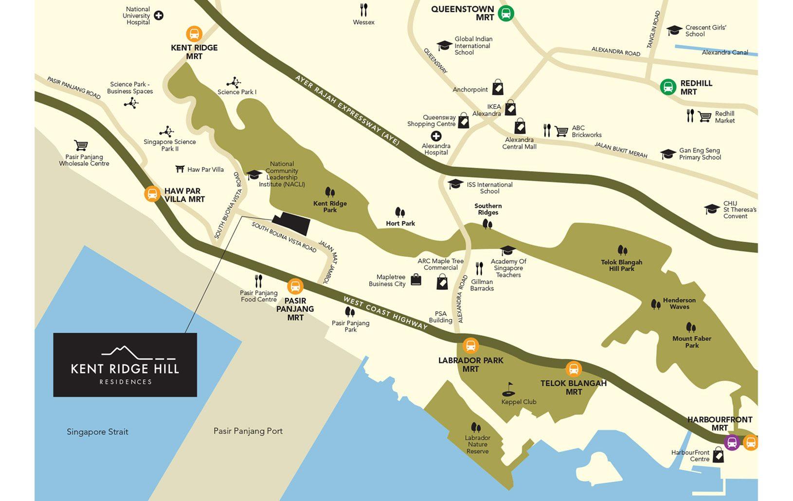 Kent Ridge Hill Residences Location Map - Singapore