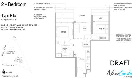 B1a - 2 Bedroom