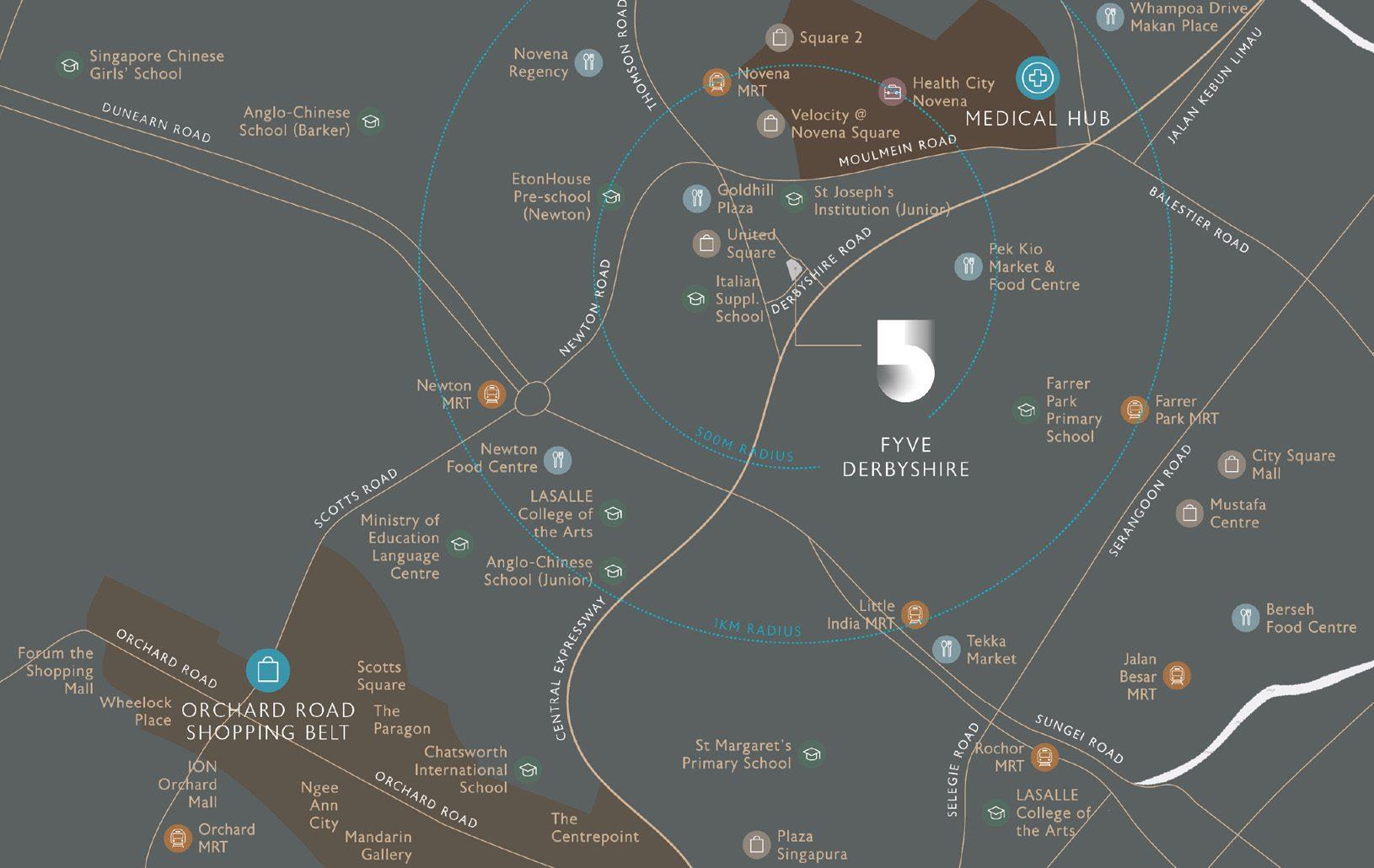 Fyve Derbyshire Location Map - Singapore