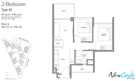 B3 - 2 Bedroom