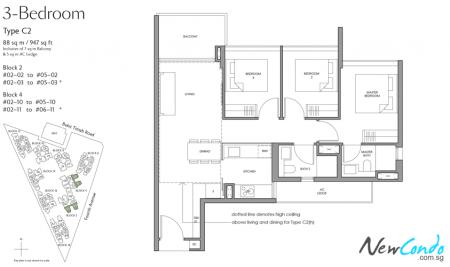 C2 - 3 Bedroom