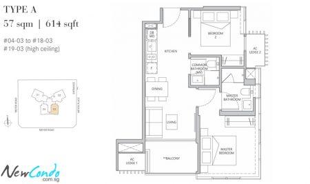 A - 2 Bedroom