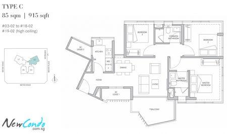 C - 3 Bedroom