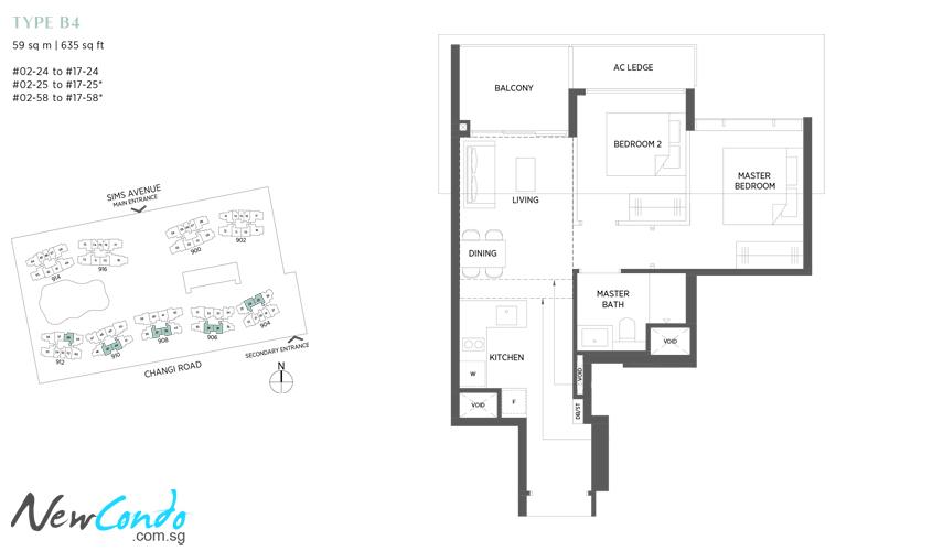 B4 - 2 Bedroom