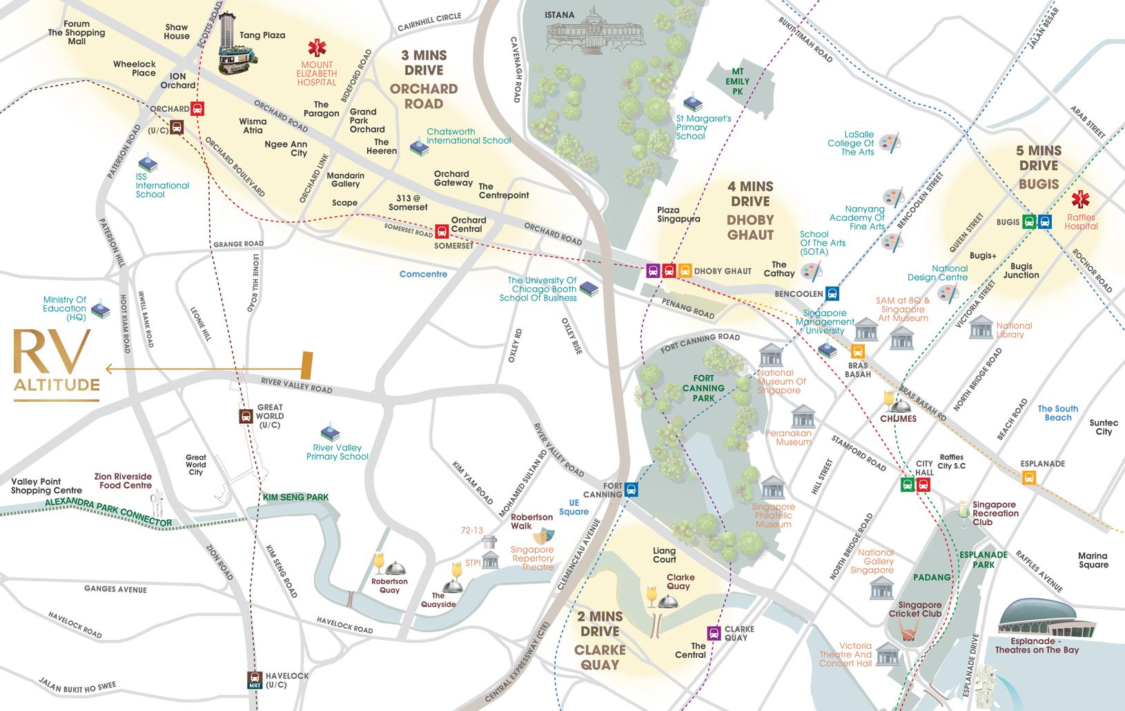 RV Altitude Location Map - Singapore