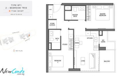 BT1 - 2 Bedroom