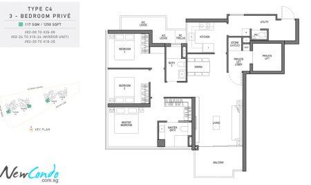 C4 - 3 Bedroom