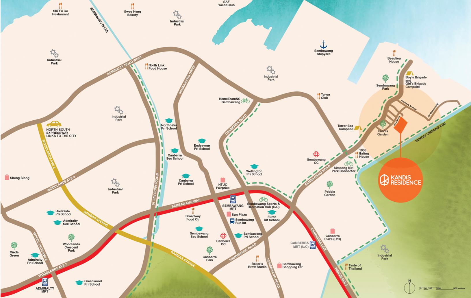 Kandis Residence Location Map - Singapore