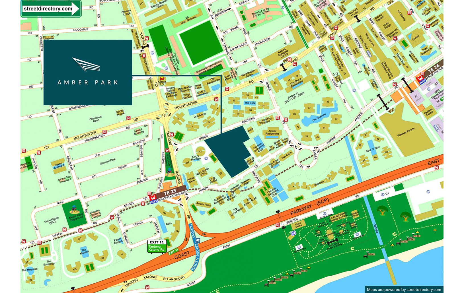 Amber Park Location Map - Singapore