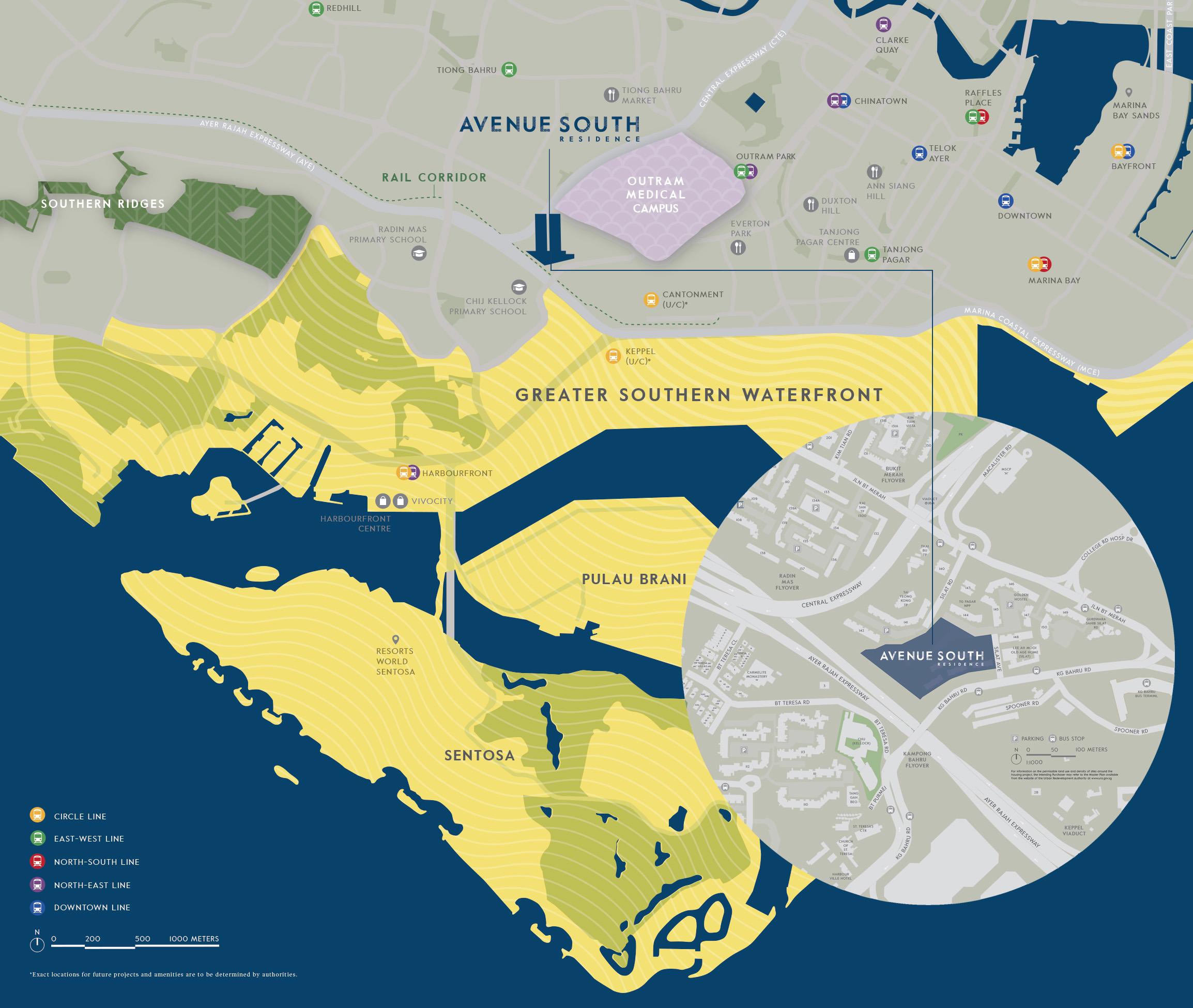 new-condo-singapore-avenue-south-residence-location-map