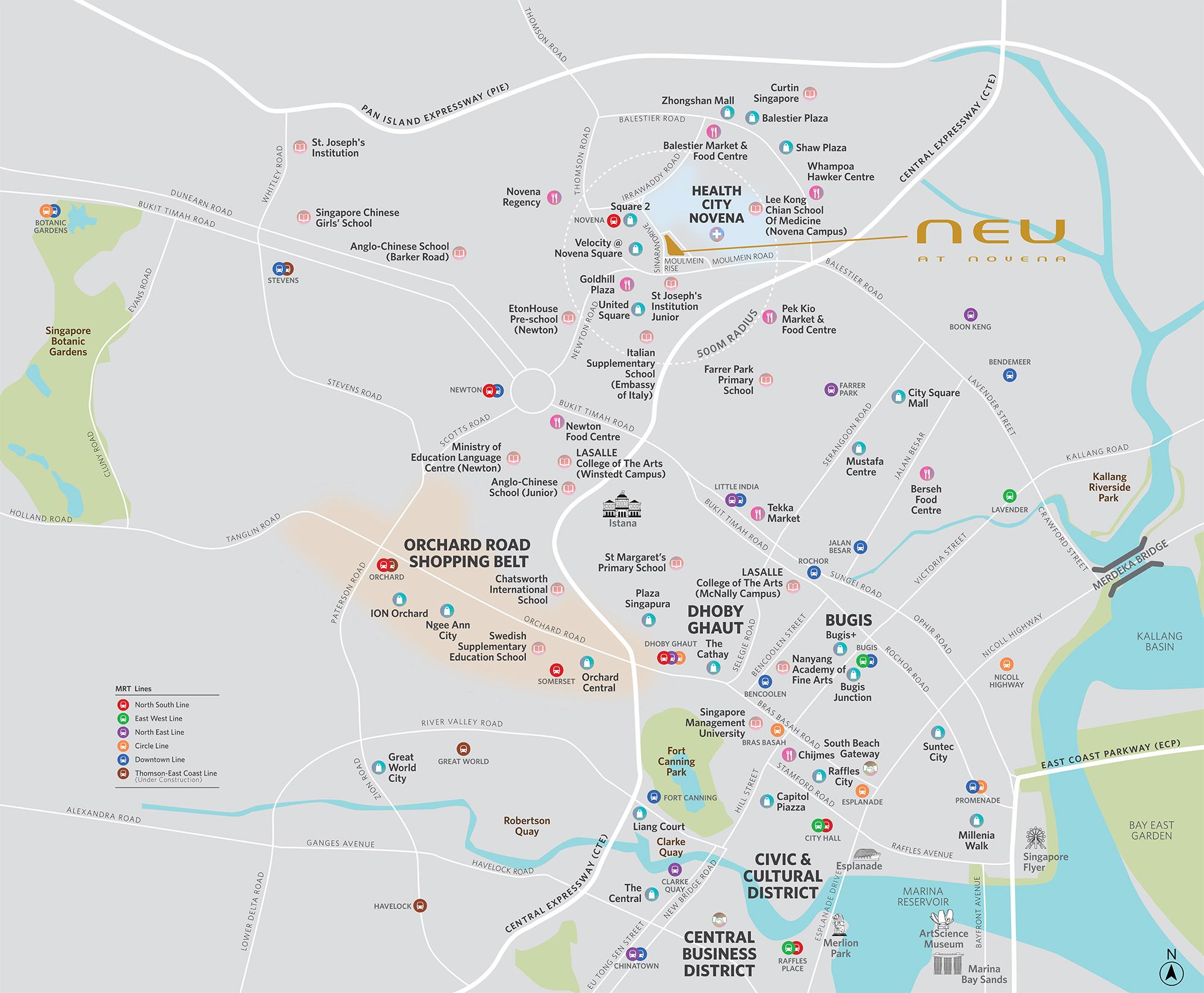 new-condo-singapore-neu-at-novena-location-map