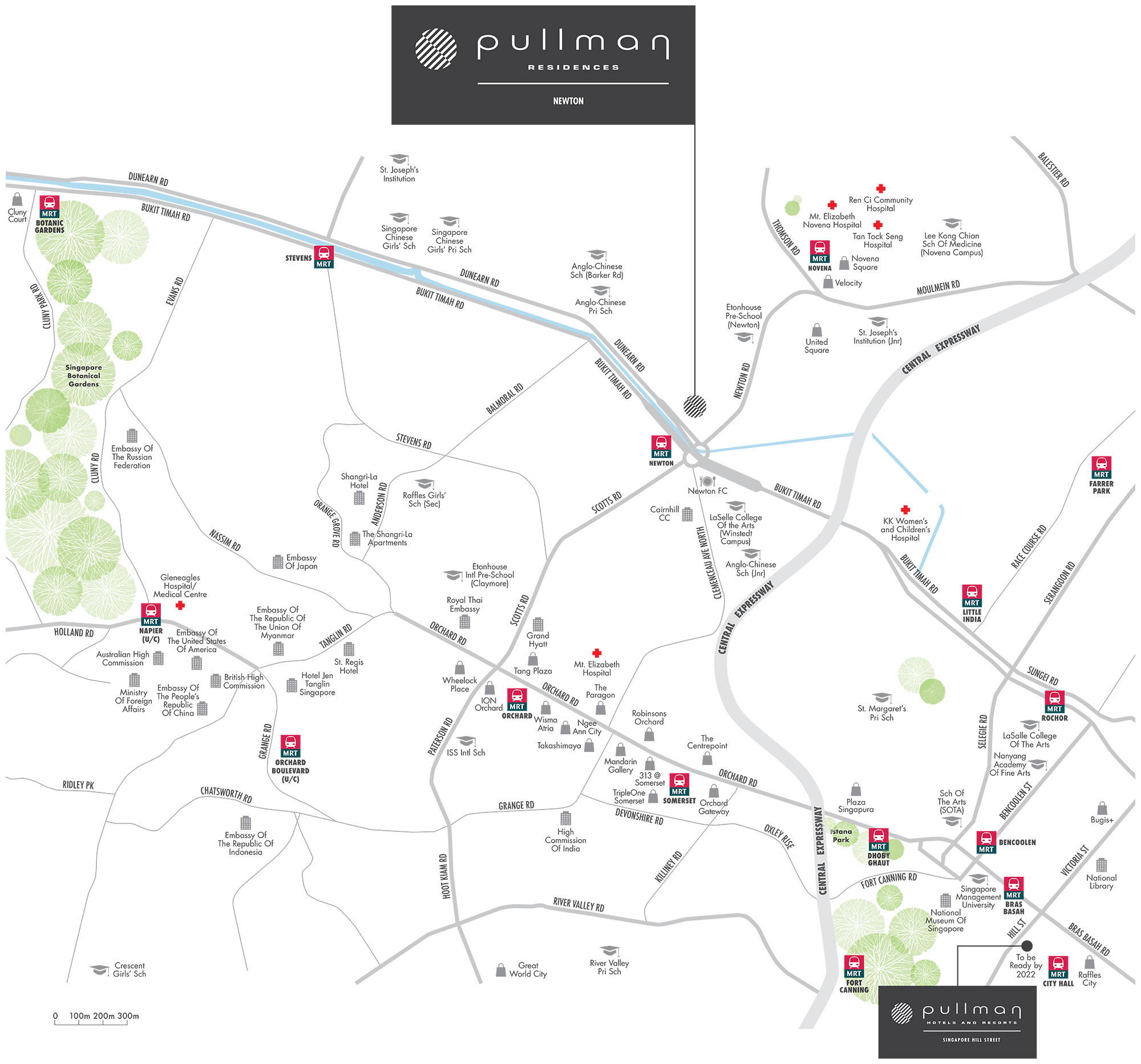 new-condo-singapore-pullman-residences-newton-location-map